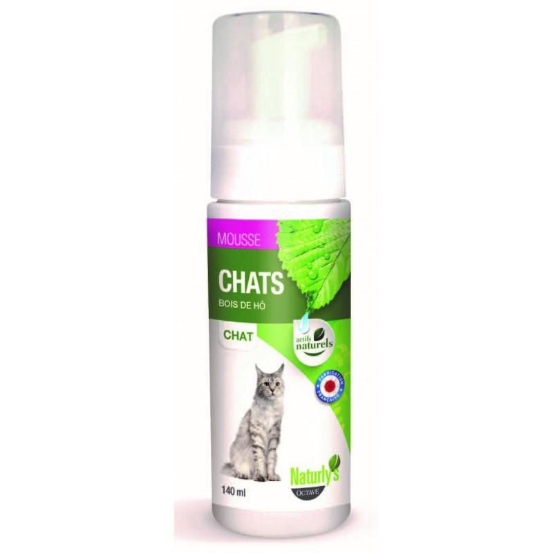 NATURLY'S - Shampoing mousse sans rinçage pour chat en 140 ml