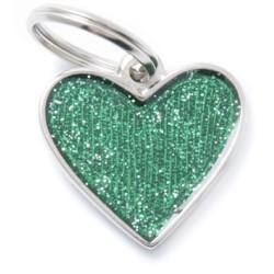 Médaille cœur paillettes et réfléchissant Collection Shine - MY FAMILY