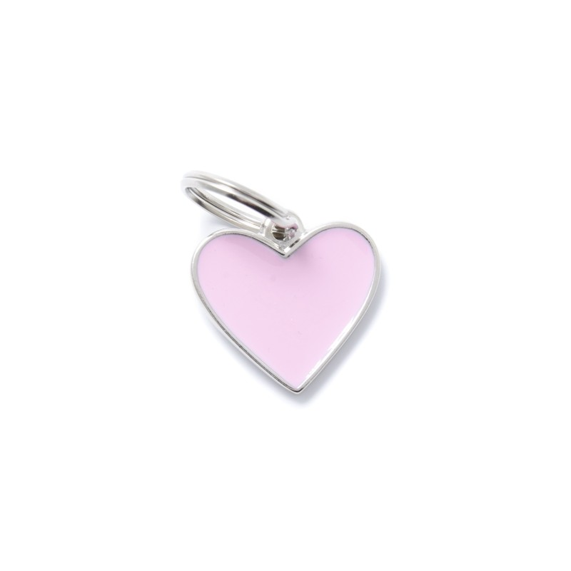 Médaille cœur métal émaillé Collection Basic - MY FAMILY