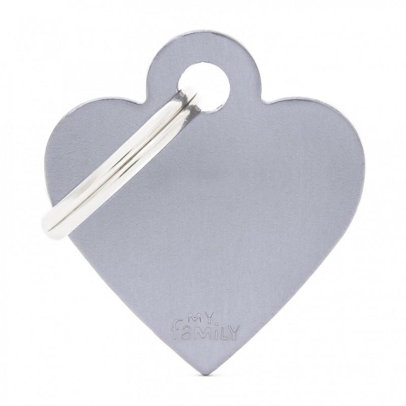 Médaille cœur Collection Basic Aluminium - MY FAMILY
