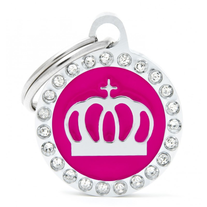 Médaille ronde Couronne Collection Glam - MY FAMILY