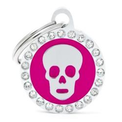 Médaille ronde tête de mort Collection Glam - MY FAMILY