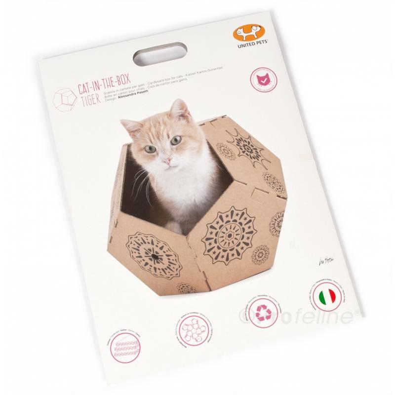 panier chat en carton