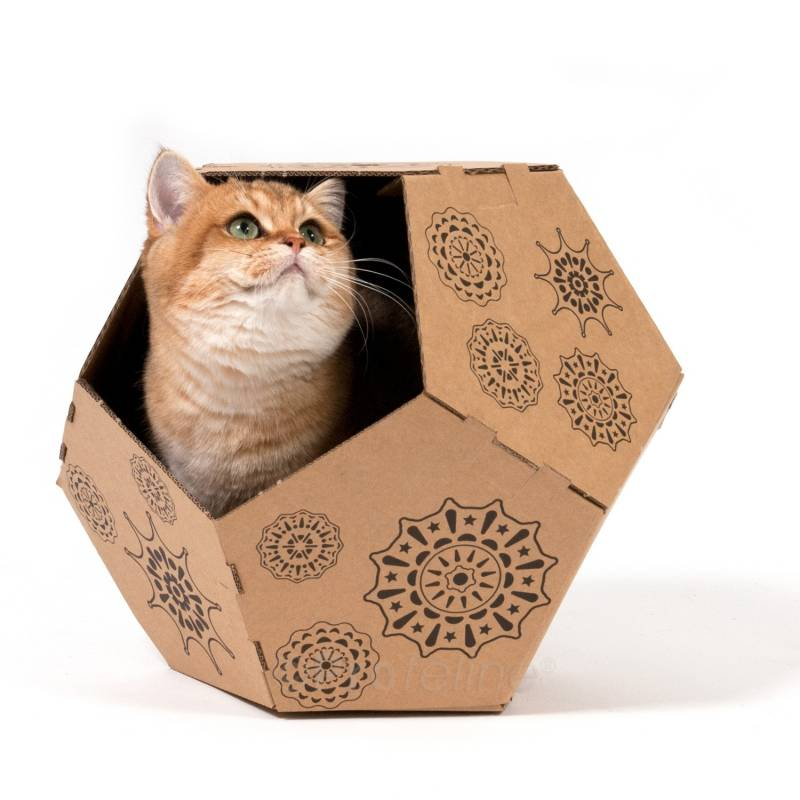 panier en carton pour chat tiger united pets cat apart. Black Bedroom Furniture Sets. Home Design Ideas