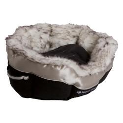 Panier pour chat tissu et fourrure - HAPPY HOUSE
