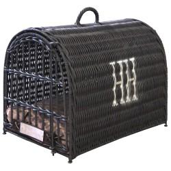 Cage de transport pour chat en osier - HAPPY HOUSE