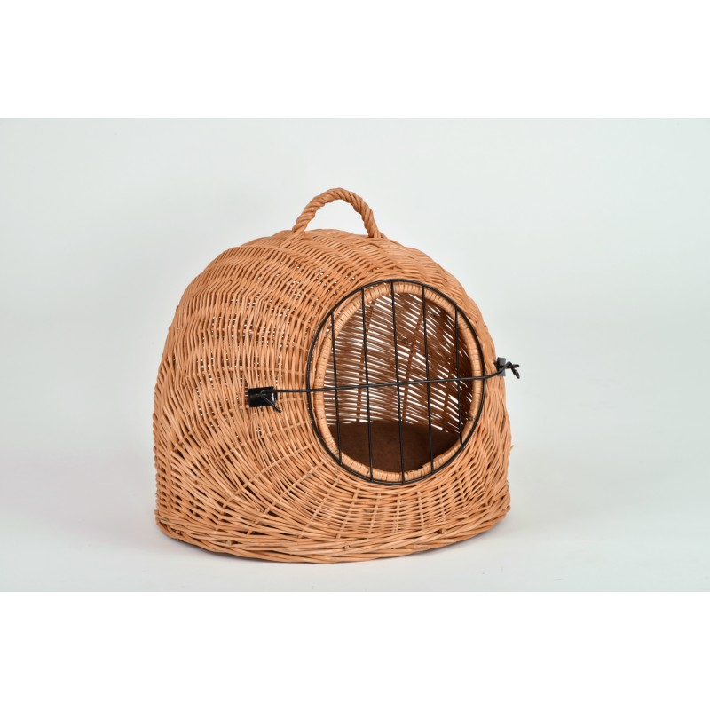 Cage de transport pour chat en osier - SILVIO DESIGN