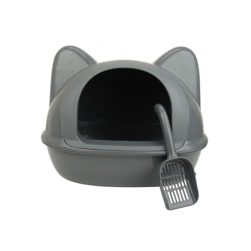 Maison de toilette et niche tête de chat 2-en-1 - WOUAPY