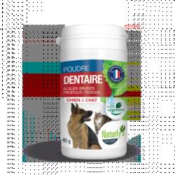 NATURLY'S - Complément alimentaire pour chat Poudre Dentaire 40 g