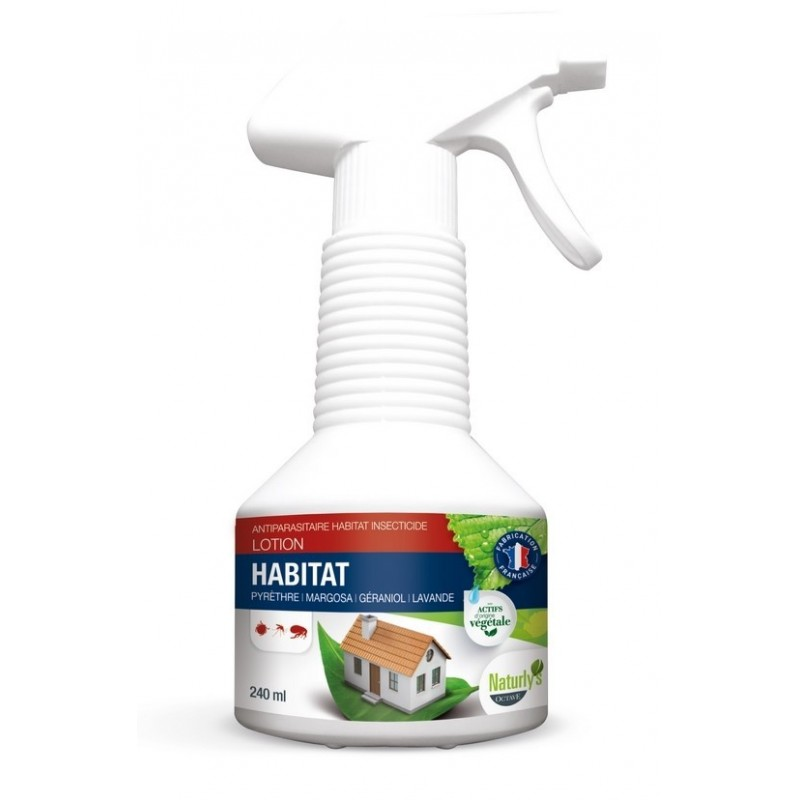 NATURLY'S - Insecticide anti-puces naturel pour l'habitat 240 ml