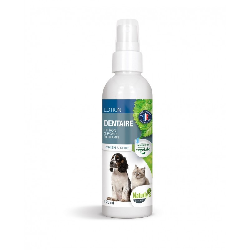 NATURLY S - Lotion dentaire pour chat en spray 125 ml