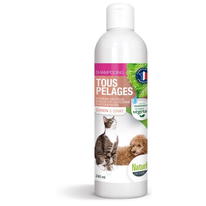 NARTURLY S - Shampoing naturel sans paraben pour chat tout pelage 240 ml