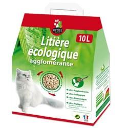 OCTAVE NATURE - litière écologique végétale pour chat agglomérante 10 litres