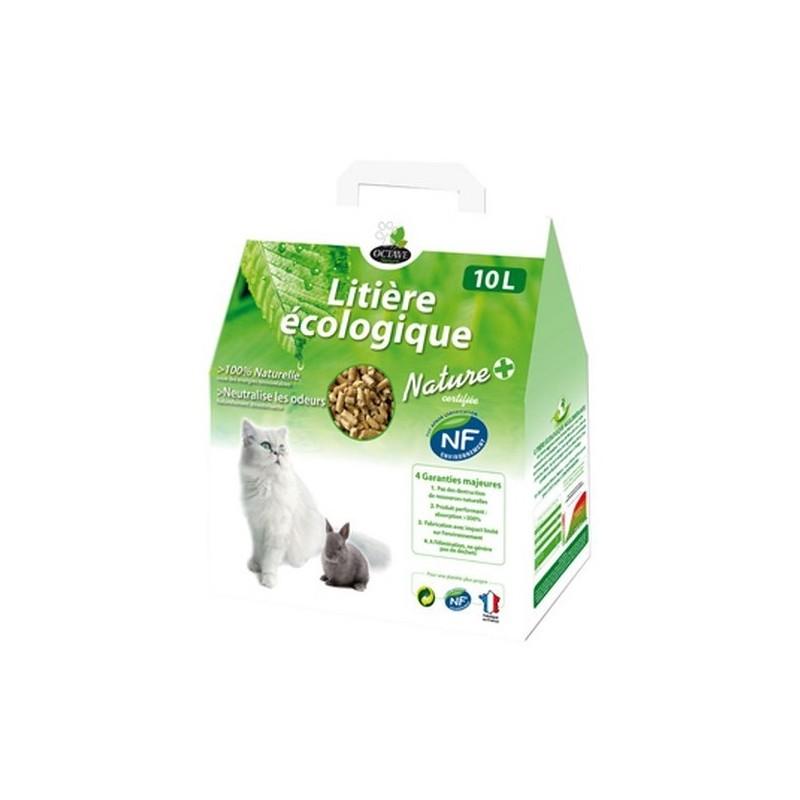 OCTAVE NATURE - litière végétale pour chat écologique NF 10 litres