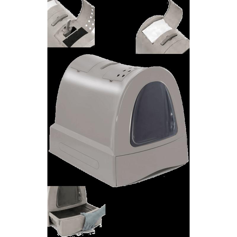 Maison de toilette pour chat à tiroir facilite le nettoyage - IMAC