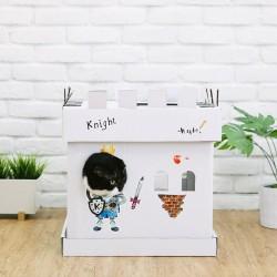 Maison et griffoir en carton pour chat Castle Chevalier - CAT IN THE BOX