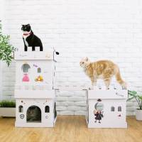 Maison et griffoir en carton pour chat Castle Magicien - CAT IN THE BOX