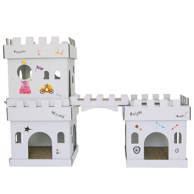 maison et griffoir en carton pour chat castle magicien. Black Bedroom Furniture Sets. Home Design Ideas