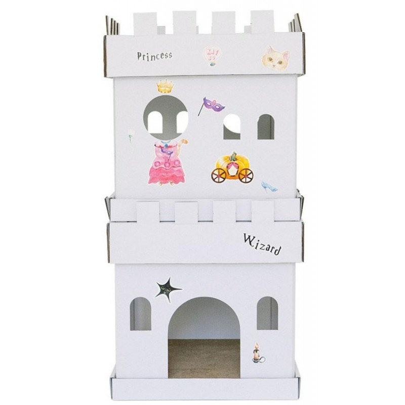 Maison et griffoir en carton pour chat Castle Princesse - CAT IN THE BOX