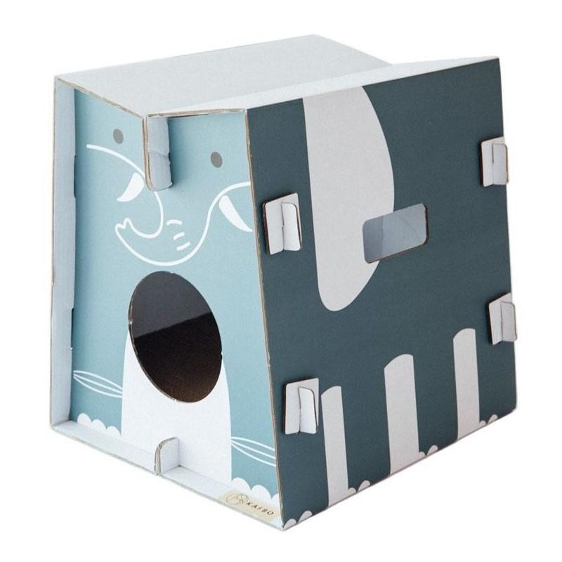 Griffoir en carton résistant pour chat Safari Éléphant - CAT IN THE BOX