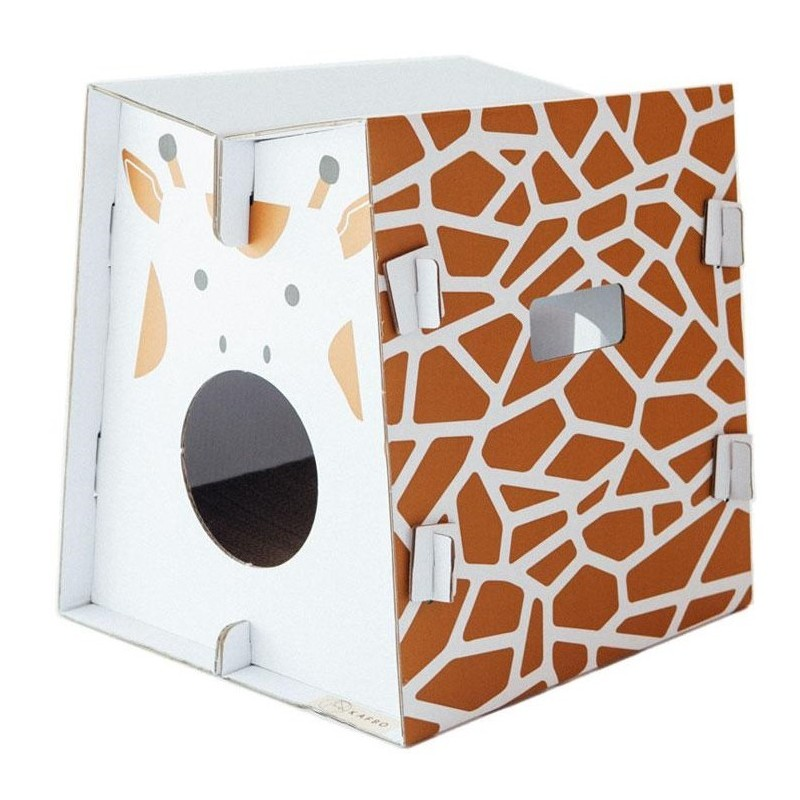 griffoir en carton r sistant pour chat safari girafe. Black Bedroom Furniture Sets. Home Design Ideas