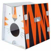 Griffoir en carton pour chat Safari Tigre- CAT IN THE BOX