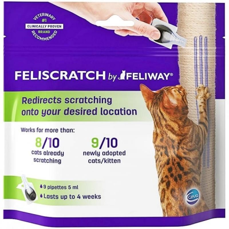 FELIWAY - Feliscratcht arrête les griffades du chat rapidement 9 pipettes x 5 ml
