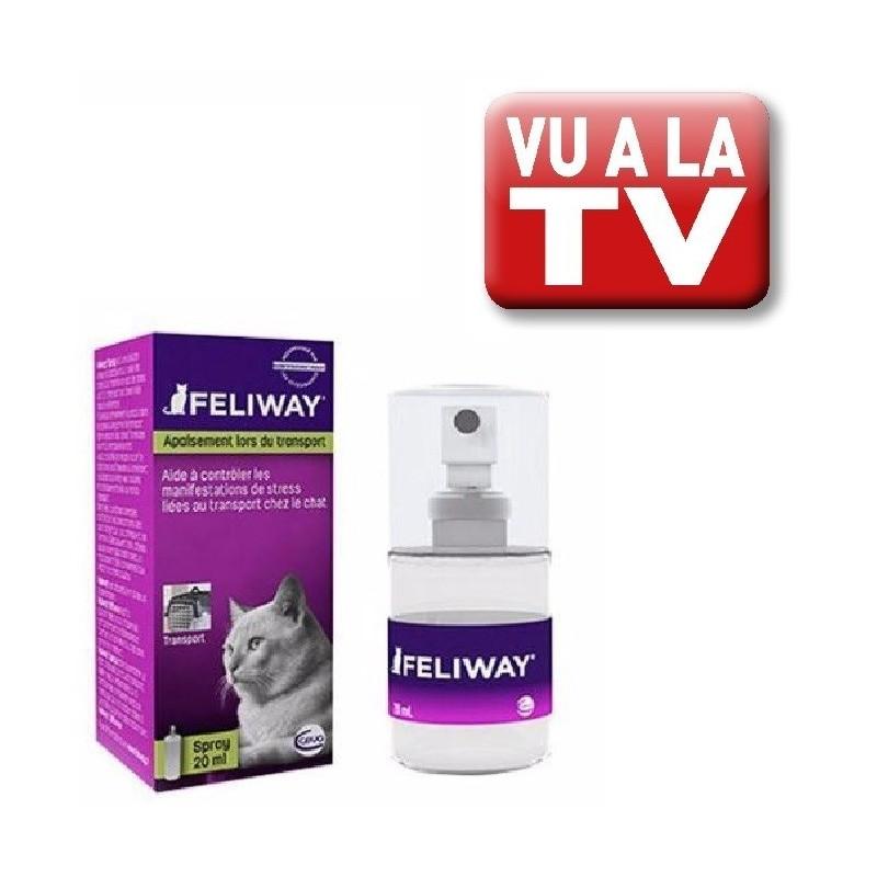 FELIWAY -  Transport 20 ml, apaise le chat pendant ses déplacements