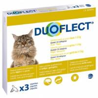 Pipettes anti-puce pour chat 3 x 2 mois - DUOFLECT