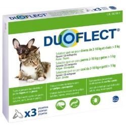 Pipettes anti-puces pour chat et chien 3 x 2 mois - DUOFLECT