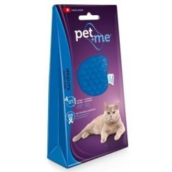 Brosse en cilicone pour chat à poil court - PET + ME