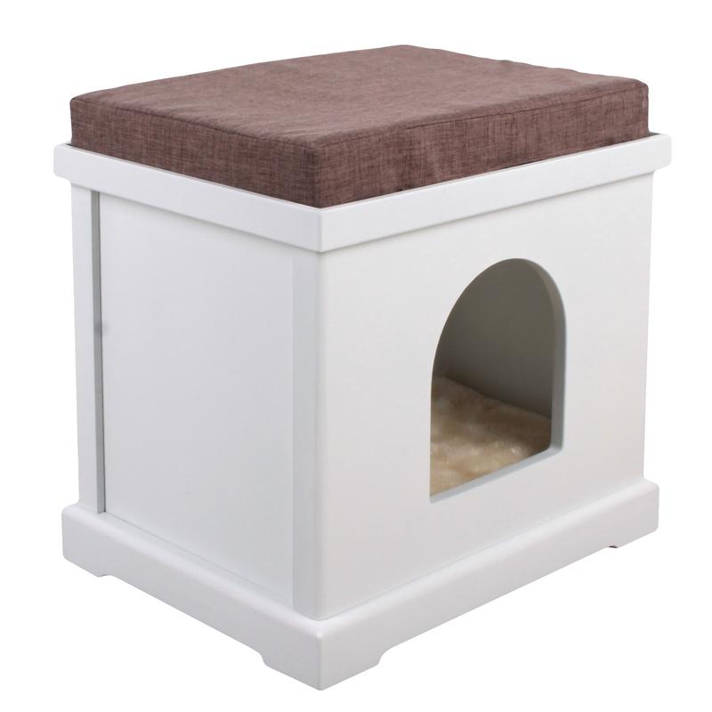 Maison pour chat en bois cube silvio design for Maison cube en bois