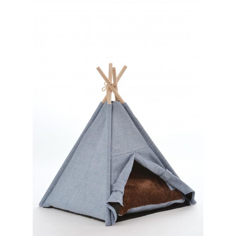 Maison tipi en tissu coton pour chat Manapi  - SILVIO DESIGN