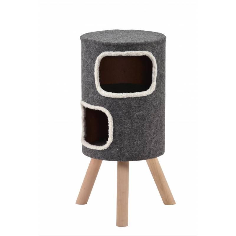 arbre a chat tabouret haut doubly silvio design. Black Bedroom Furniture Sets. Home Design Ideas