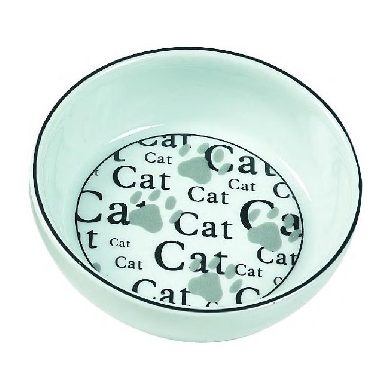 Gamelle pour chat en porcelaine Cat 13 cm - FLAMINGO
