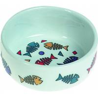 Gamelle pour chat en porcelaine Fish - FLAMINGO