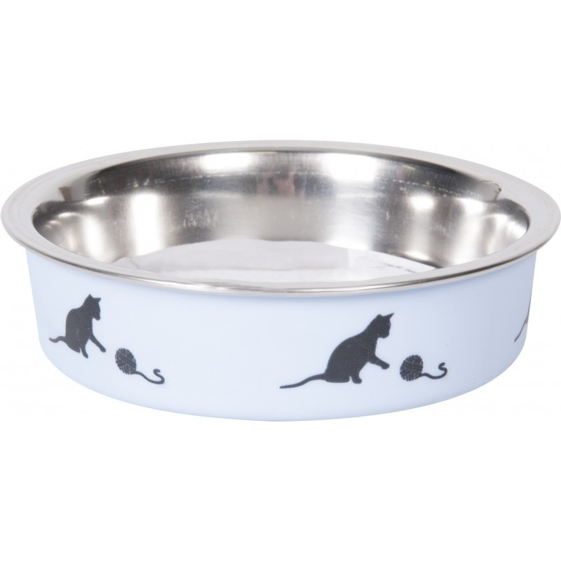 Gamelle pour chat en alu Bella Kena 11 cm - FLAMINGO