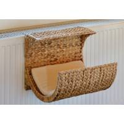 Hamac de radiateur pour chat en jacinthe d'eau tressée  - SILVIO DESIGN