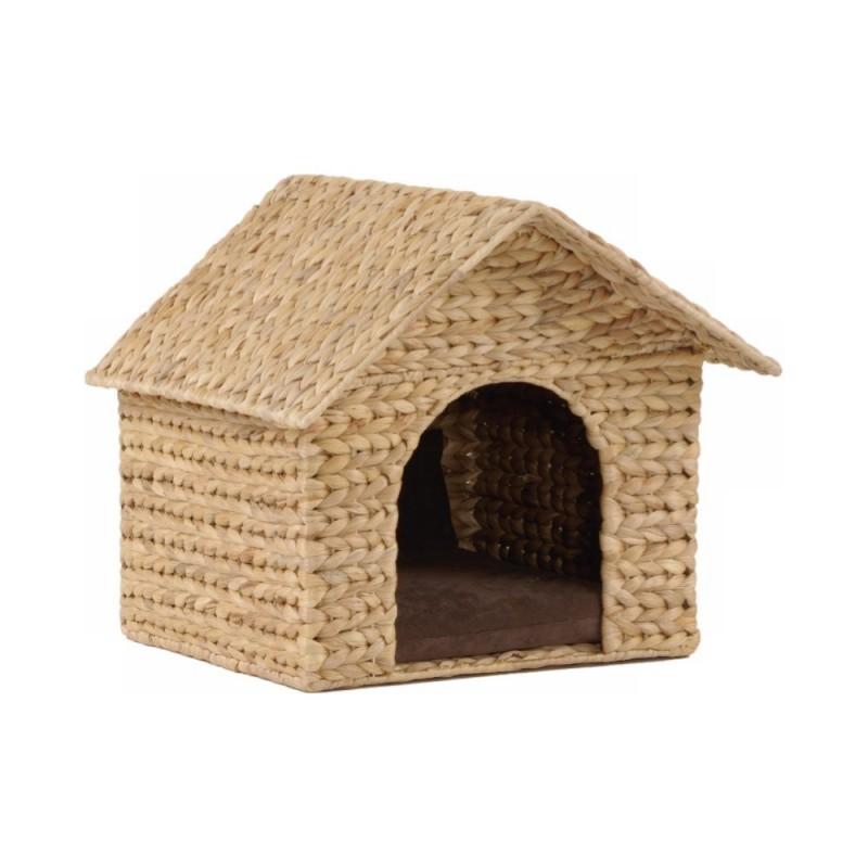 Maison pour chat Jacinthe d'eau tressée Casa  - SILVIO DESIGN