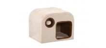 Maison pour chat en bois et fourrure synthétique Raja  - SILVIO DESIGN