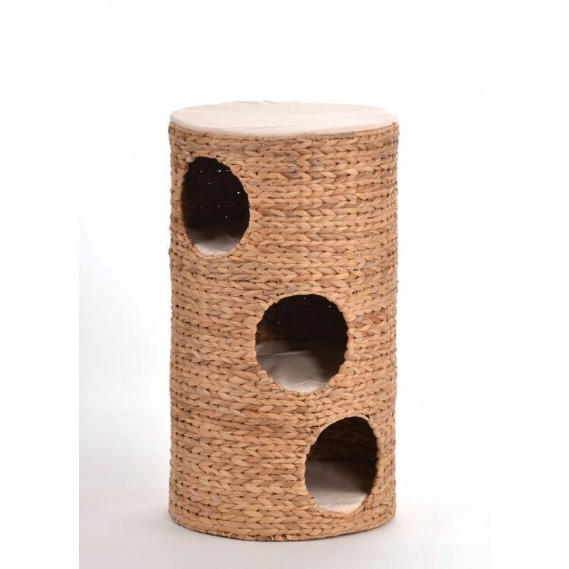 Tour pour chat en jacinthe d'eau tressée Oxana - SILVIO DESIGN