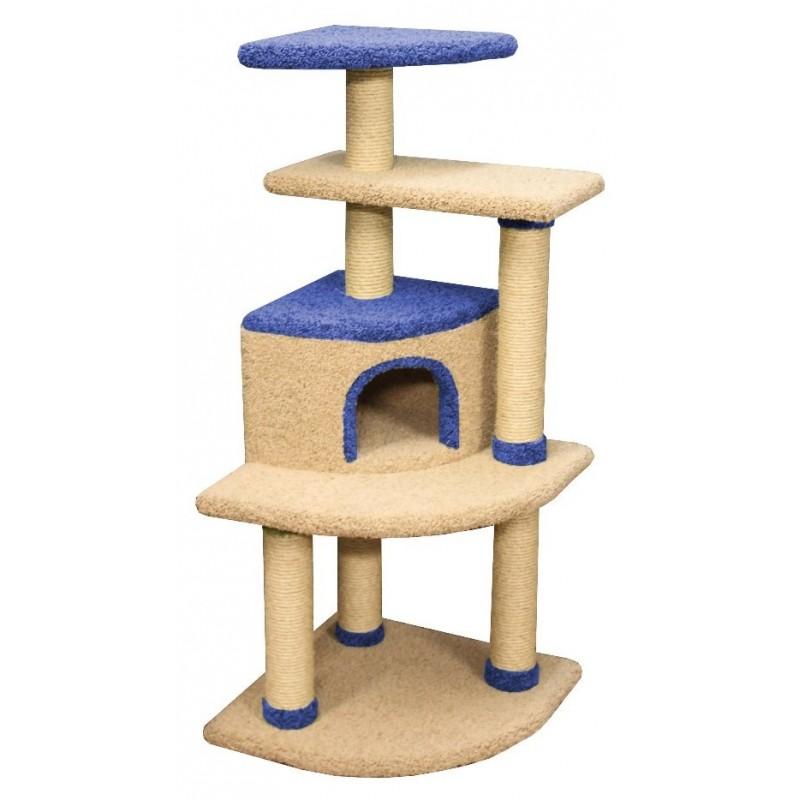 Arbre à chat d'angle revêtement moquette Babilone - CES'ART