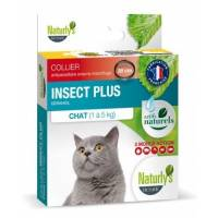 NATURLY'S - Collier Noir anti-puces naturel pour chat Insect Plus