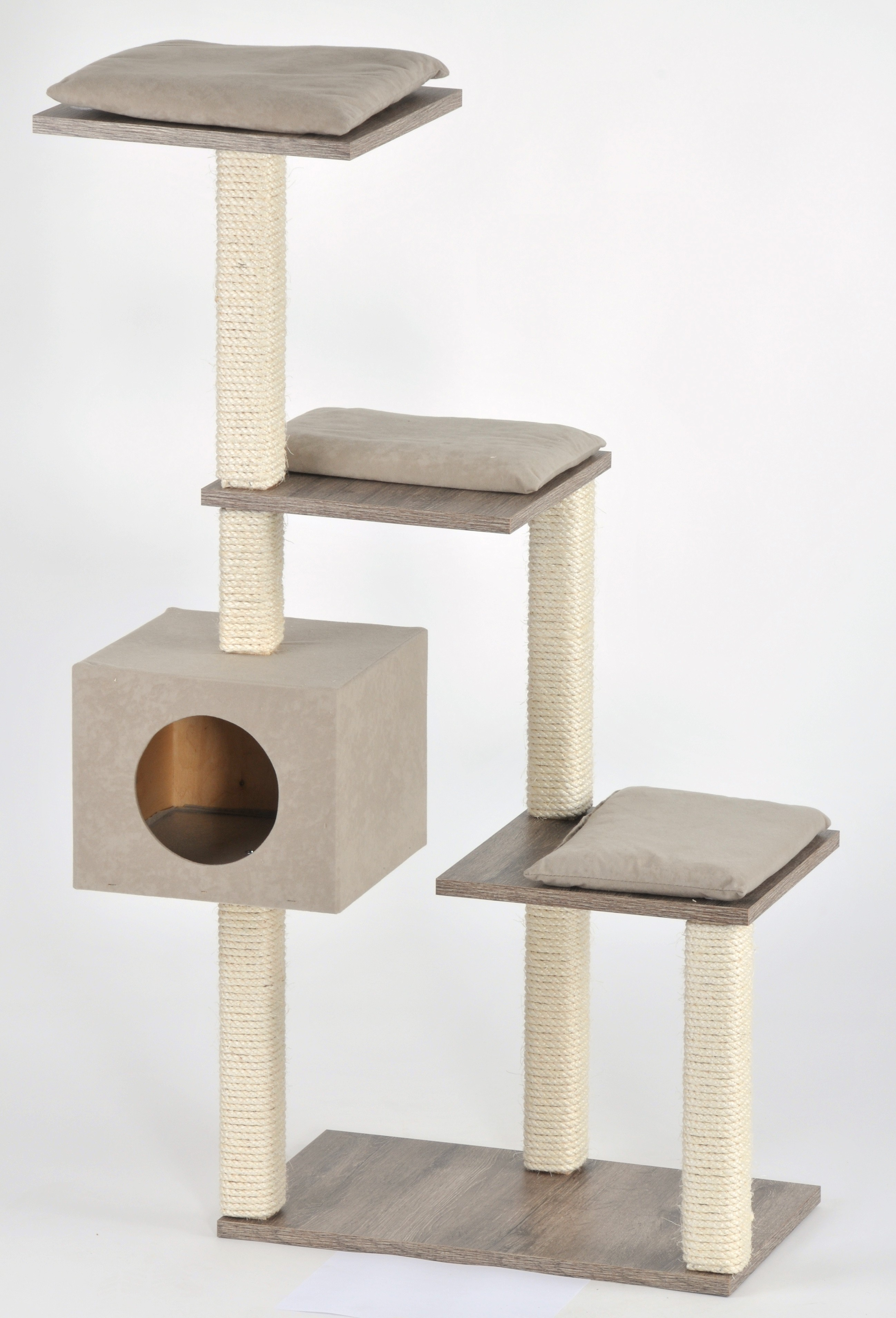 détaillant prix attractif images détaillées Arbre à chat escalier en bois moderne - Silvio Design