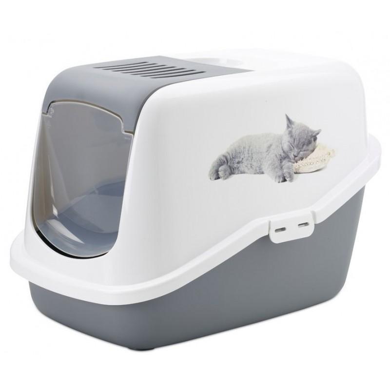 Maison de toilette pour chat Nestor avec chaton imprimé - SAVIC