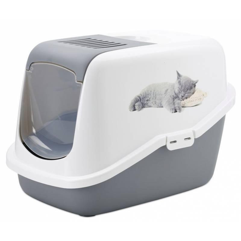 maison de toilette pour chat nestor avec chaton savic. Black Bedroom Furniture Sets. Home Design Ideas