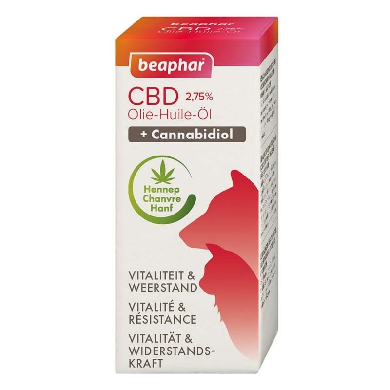Huile de CBD (Cannabidiol) vitalité & bien-être pour chat 10 ml - BEAPHAR