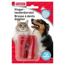 Brosse à dents doigtier pour chat - BEAPHAR