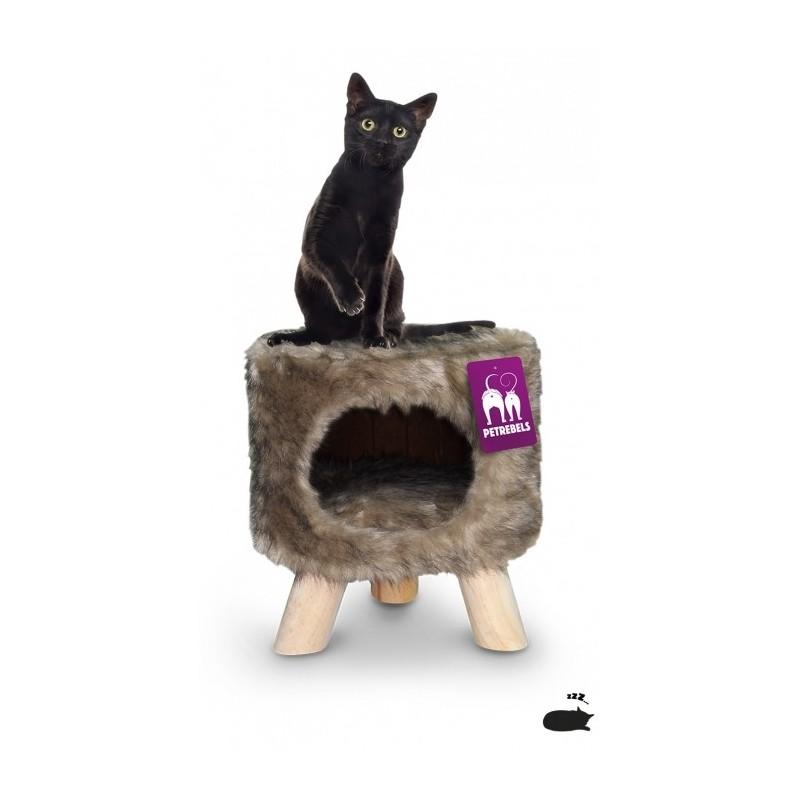 Tabouret pouf pour chat super douillet Victoria 45 cm - PETREBELS