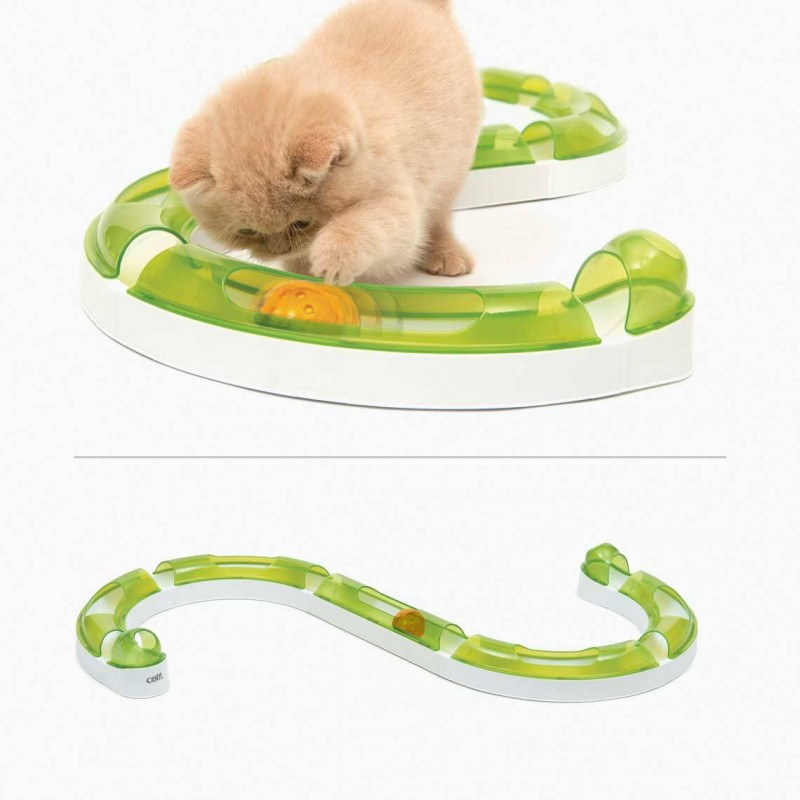 Jouet circuit avec balle pour chat Super Roller 2.0 - CAT IT
